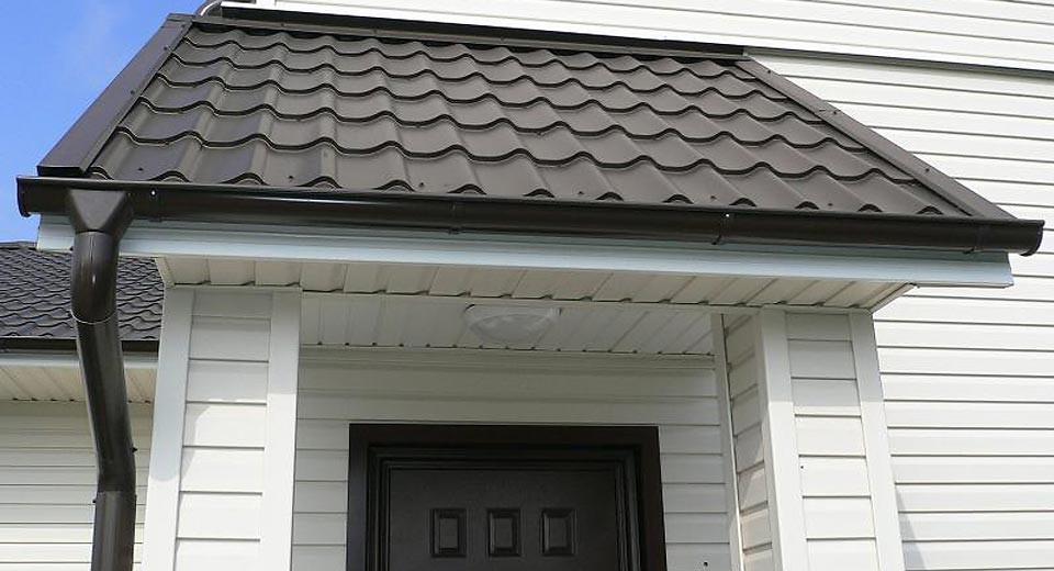 Пример работ по Монтажу софитов на карниз крыши